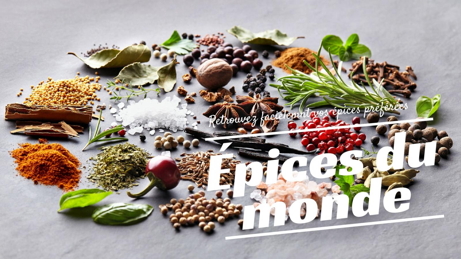 Listes Des épices : Liste des épices du monde en vente