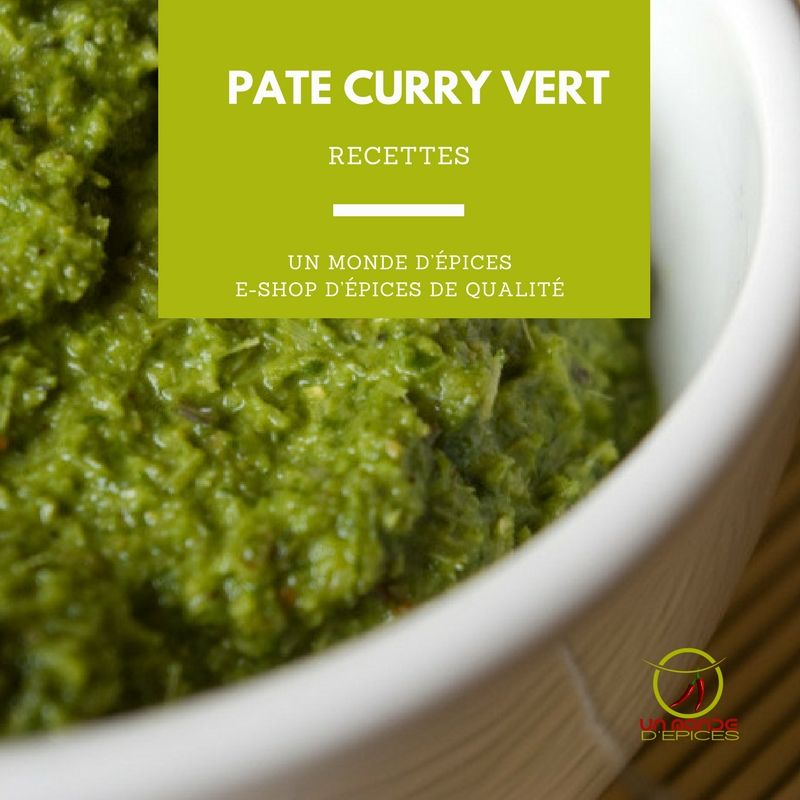 Recette pate curry vert